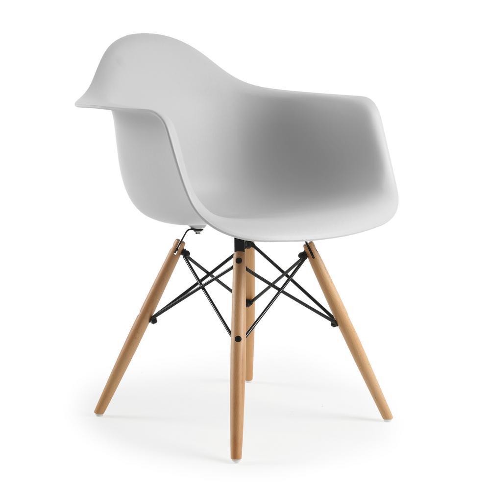 Poly and Bark Vortex Harbor Grey Arm Chair
