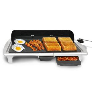 20 inch Electric Indoor Griddle in Silver by