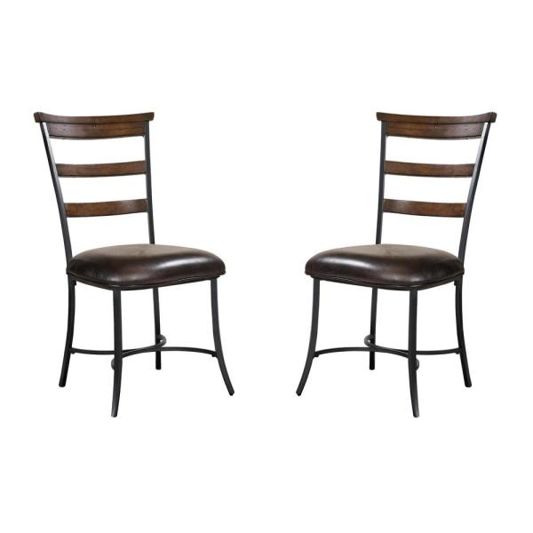Hillsdale Furniture Cameron Dark Grey Metal Ladder Back Dining Chair (Set of 2)  sc 1 st  Home Depot & Hillsdale Furniture Cameron Dark Grey Metal Ladder Back Dining Chair ...