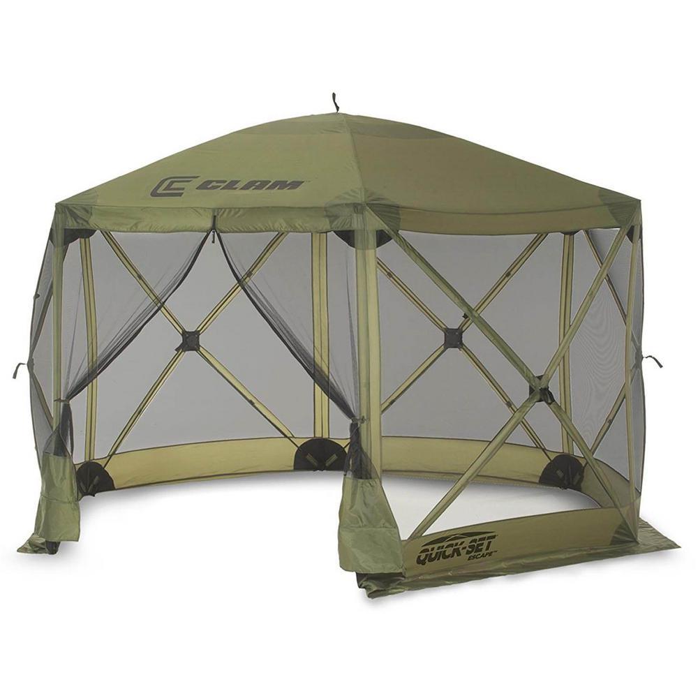 Escape Portable Camping Outdoor Gazebo Canopy Shelter, Green