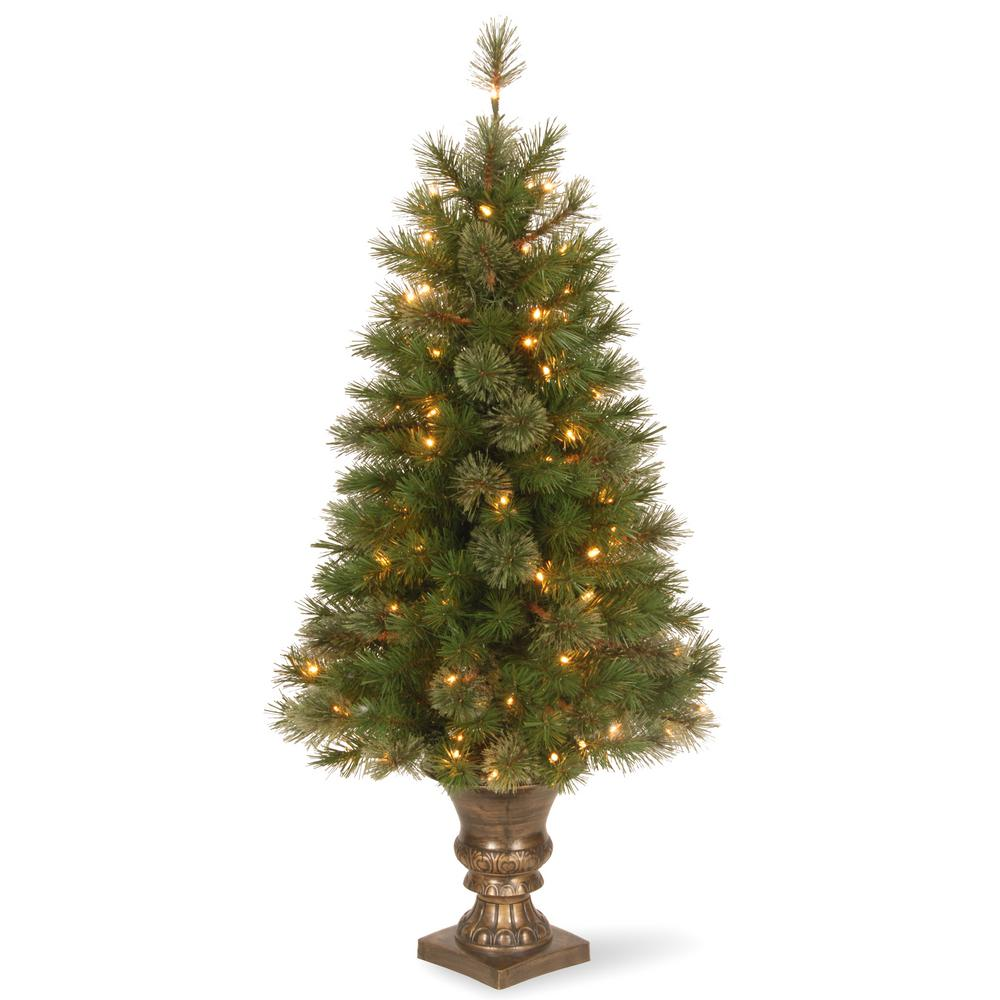 National Tree Company 4 Ft Atlanta Spruce Entrance Artificial Christmas With Clear Lights