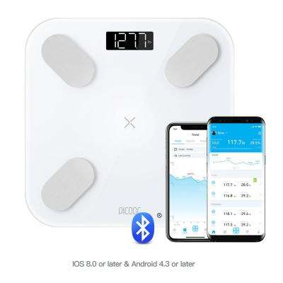 Pro Mini Digital Smart Body Composition and Fat Scale with App in White