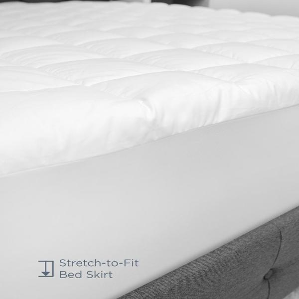 Biopedic Luxury 15 In Queen Polyester Mattress Pad 71078 The Home Depot