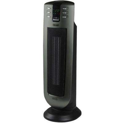 Safeheat 24 in. 1500-Watt Ceramic Vented Tower Heater with Remote Control and Eco Energy Function
