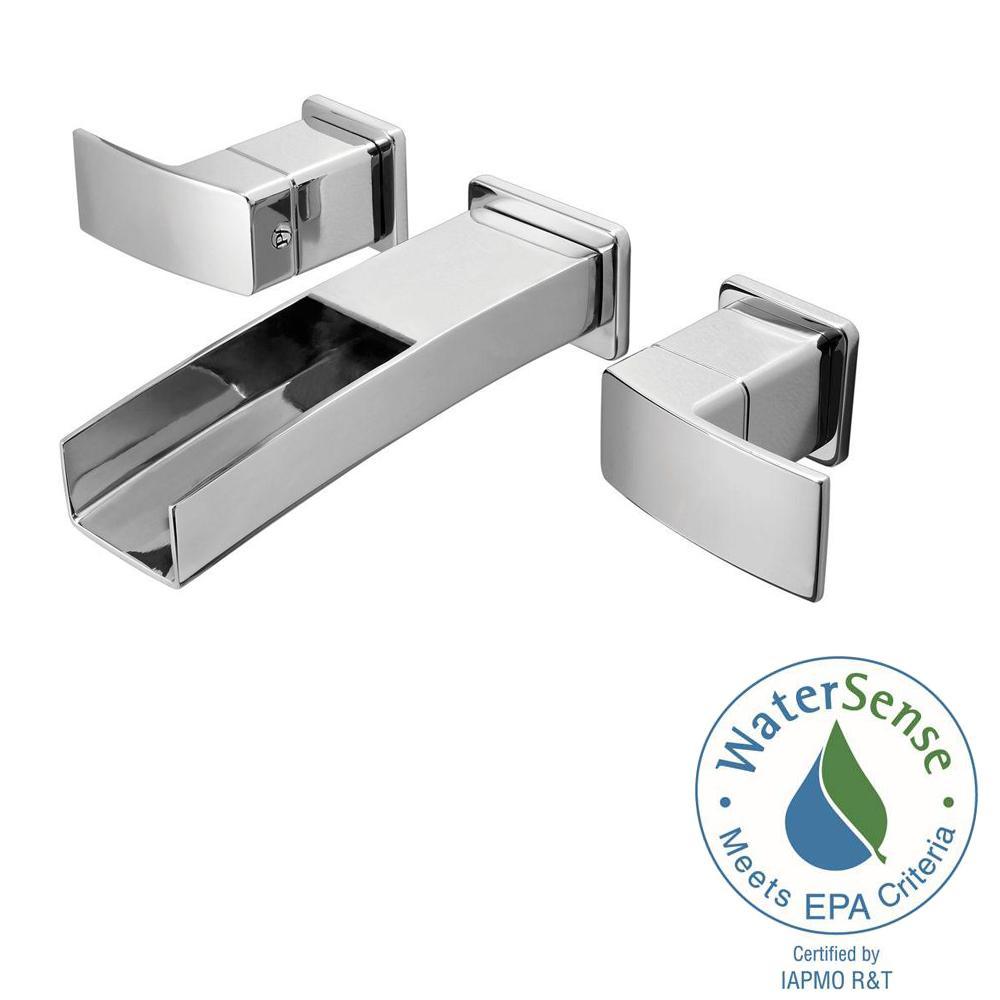 Pfister Kenzo 2 Handle Wall Mount Bathroom Faucet In