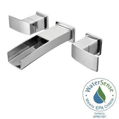 kenzo 2handle wall mount bathroom faucet in polished chrome