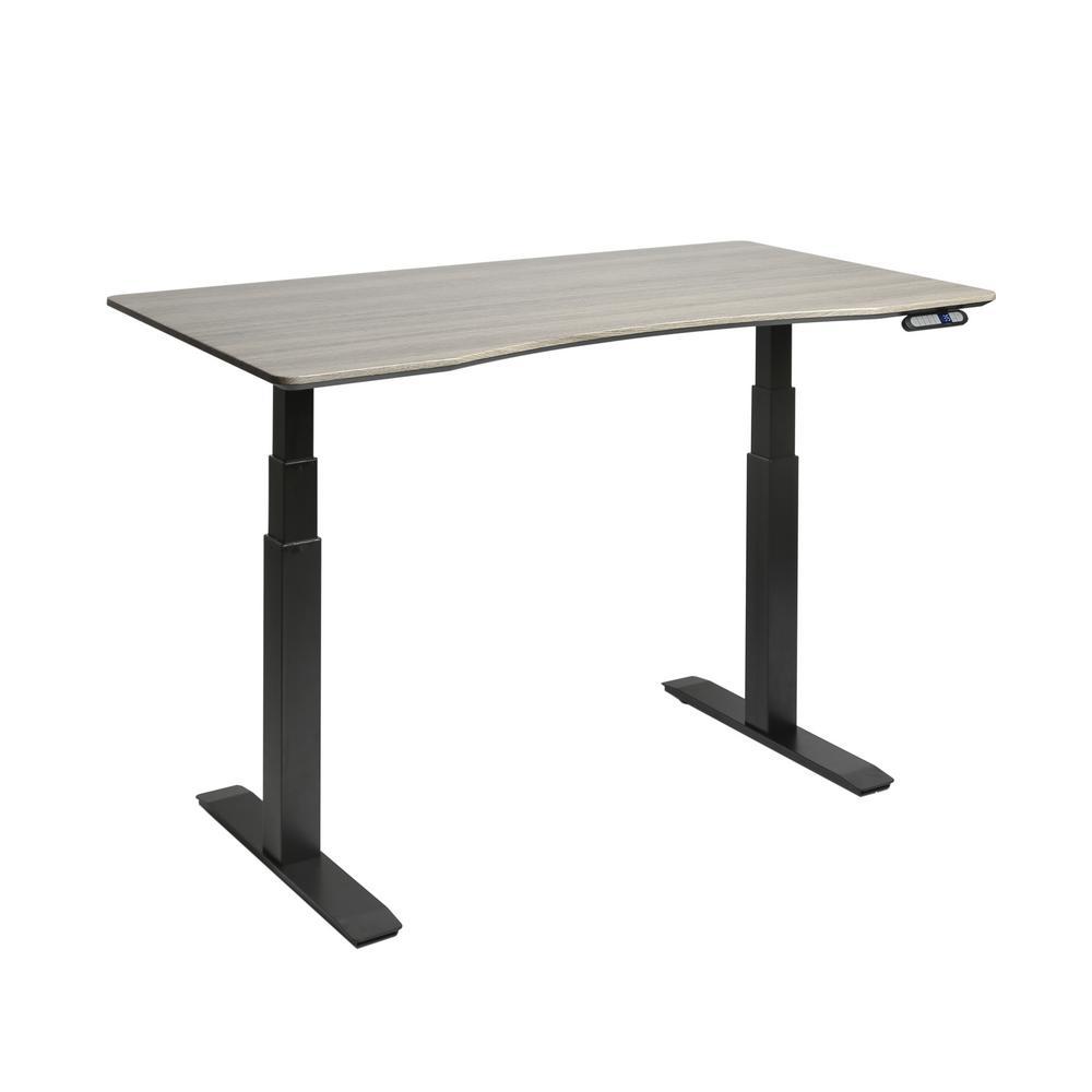 Seville Classics AIRLIFT Black/Ash S3 Electric Standing Desk Frame /W 54