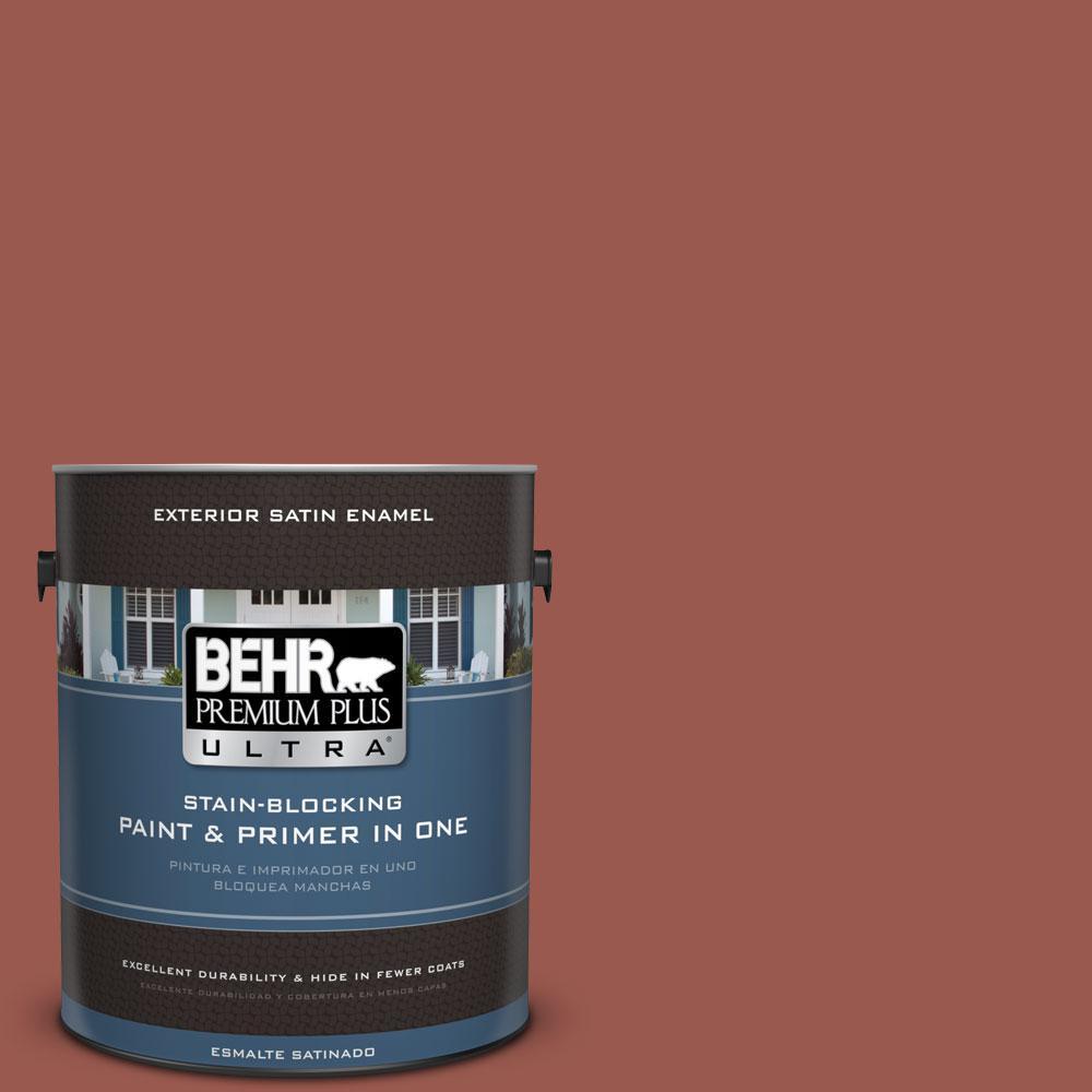 BEHR Premium Plus Ultra 1-gal. #ICC-106 Spicy Cayenne Satin Enamel Exterior Paint