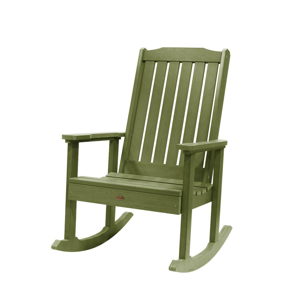 Highwood Lehigh Dried Sage Recycled Plastic Outdoor Rocking Chair