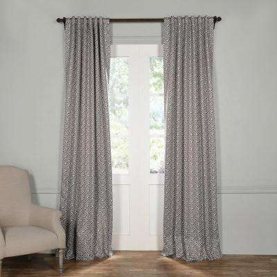 Semi-Opaque Cobblestone Taupe Blackout Curtain - 50 in. W x 84 in. L (Panel)