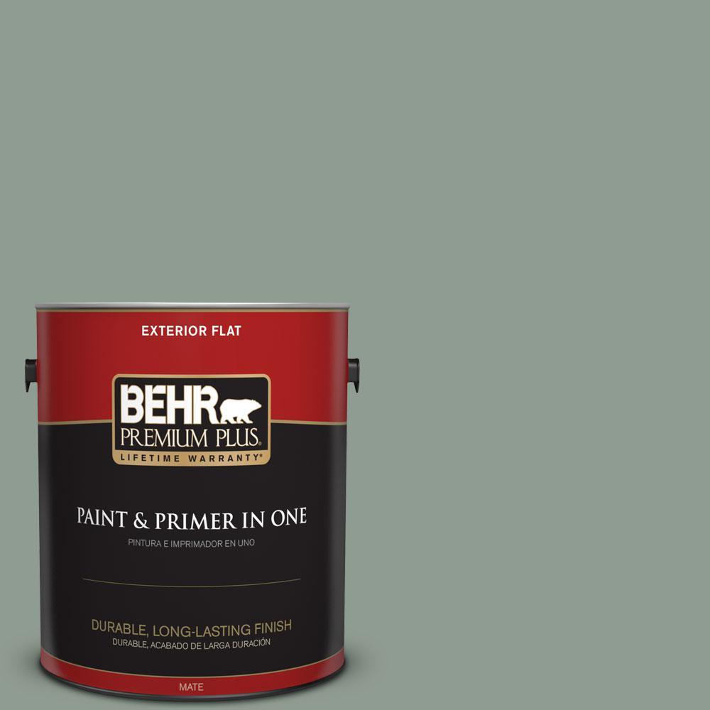 BEHR Premium Plus 1-gal. #ICC-104 Balsam Fir Flat Exterior Paint