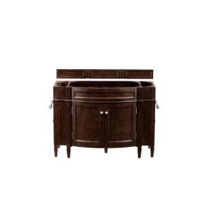 Brittany 46 in. W x 33 in. H Single Bath Vanity Cabinet Only (Top not Included) in Burnished Mahogany
