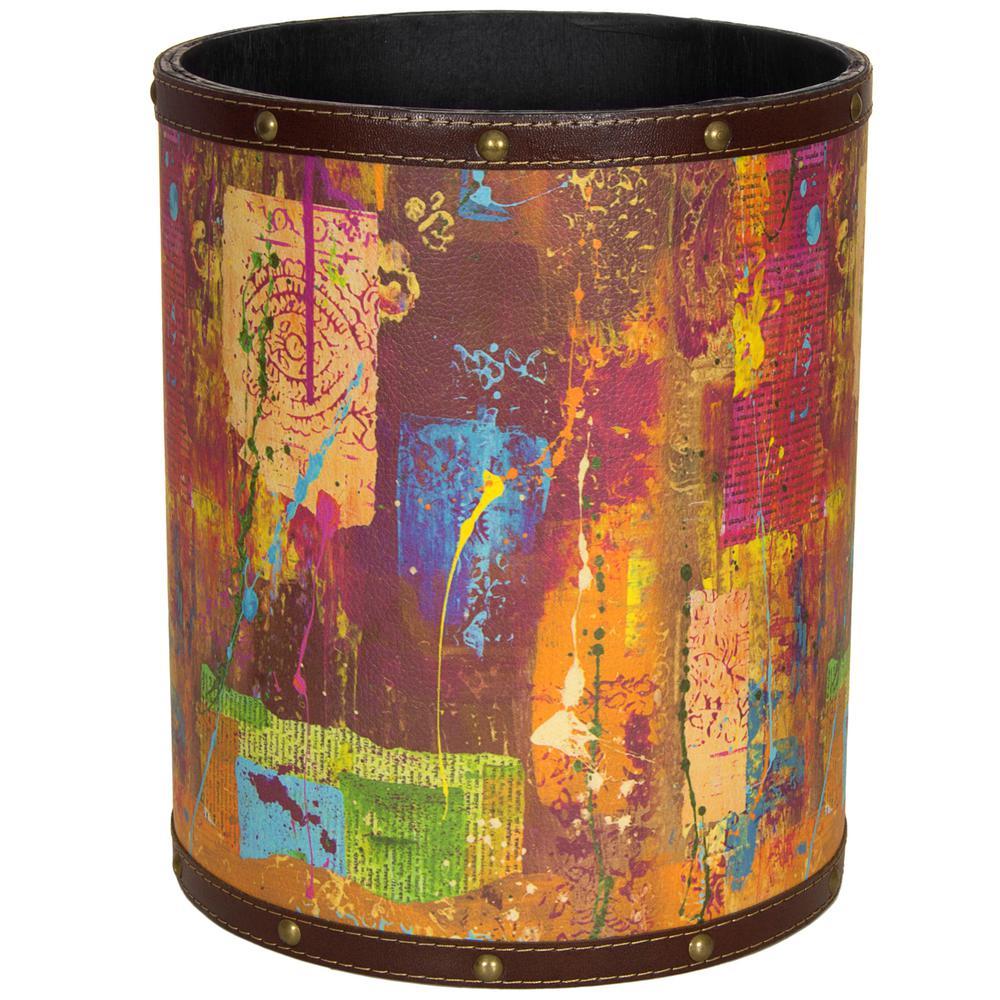 Oriental Furniture 8.25 in. x 10 in. India by Gita Waste Basket
