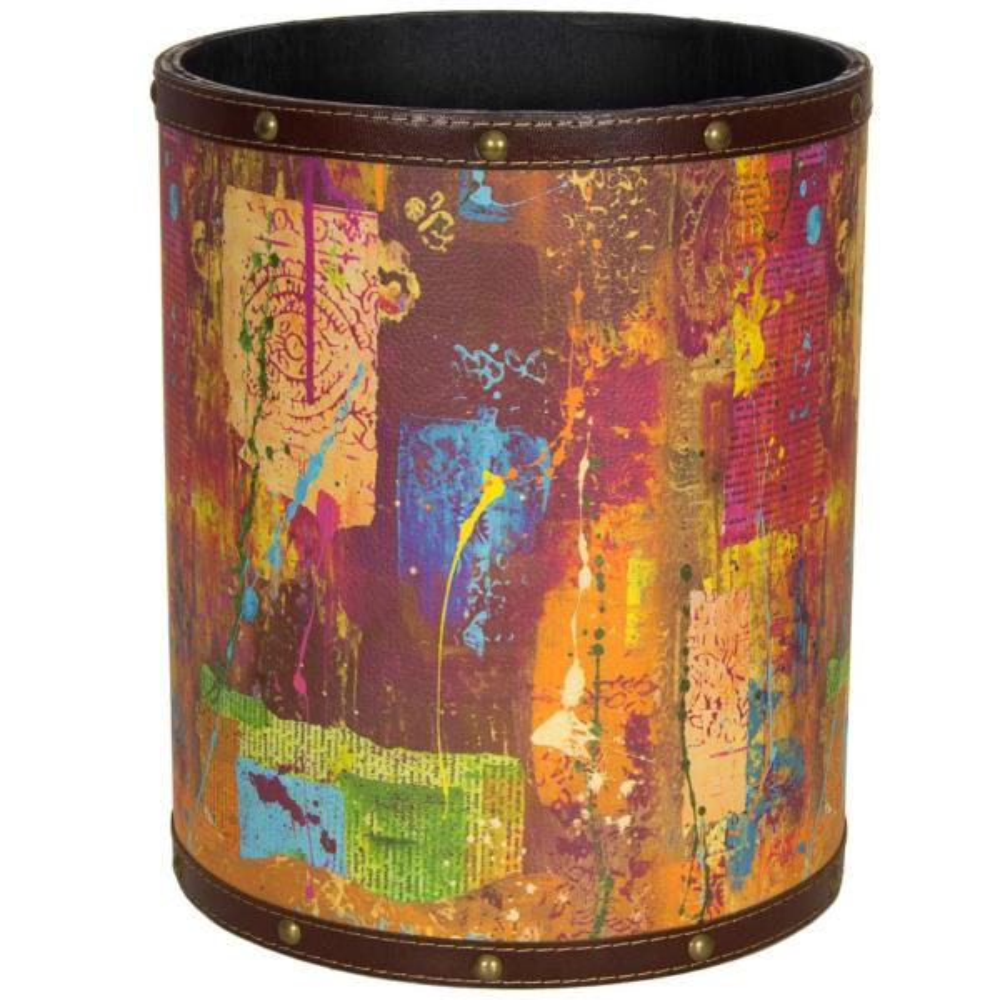 Oriental Furniture Oriental Furniture 8.25 in. x 10 in. India by Gita Waste Basket