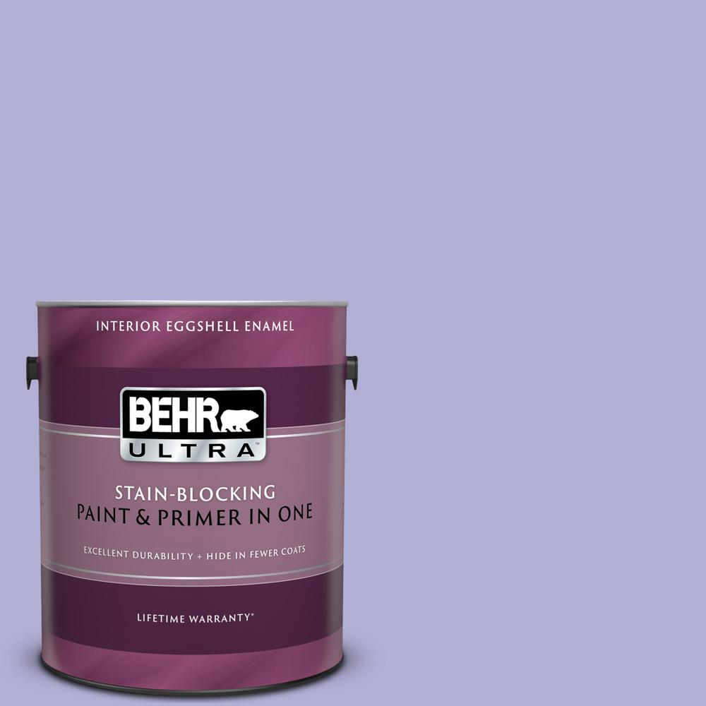Behr Ultra 1 Gal 630b 4 Freesia Purple Eggshell Enamel Interior Paint And Primer In One 275401 The Home Depot