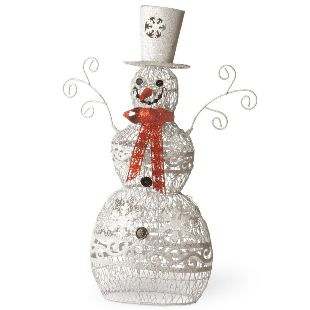 24 in. Metal Snowman
