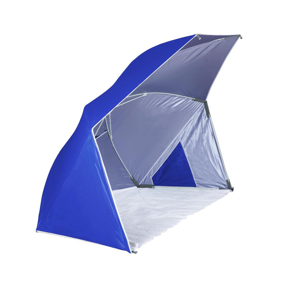 Picnic Time Brolly Blue Beach Umbrella Tent 116 00 139 000 0 The