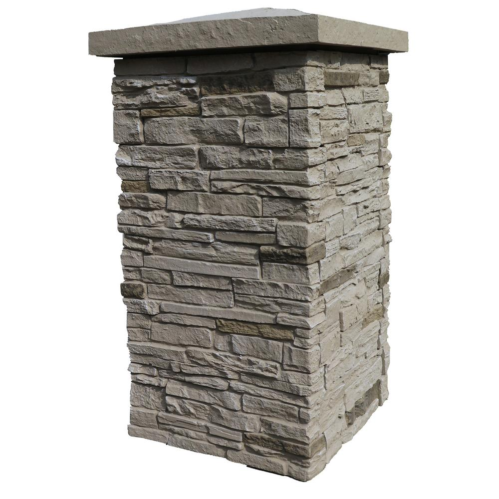 Cultured Stone Pillars : Nextstone slatestone sahara in faux