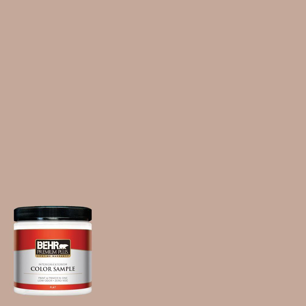 BEHR Premium Plus 8 oz. #760B-4 Adobe Straw Interior/Exterior Paint Sample