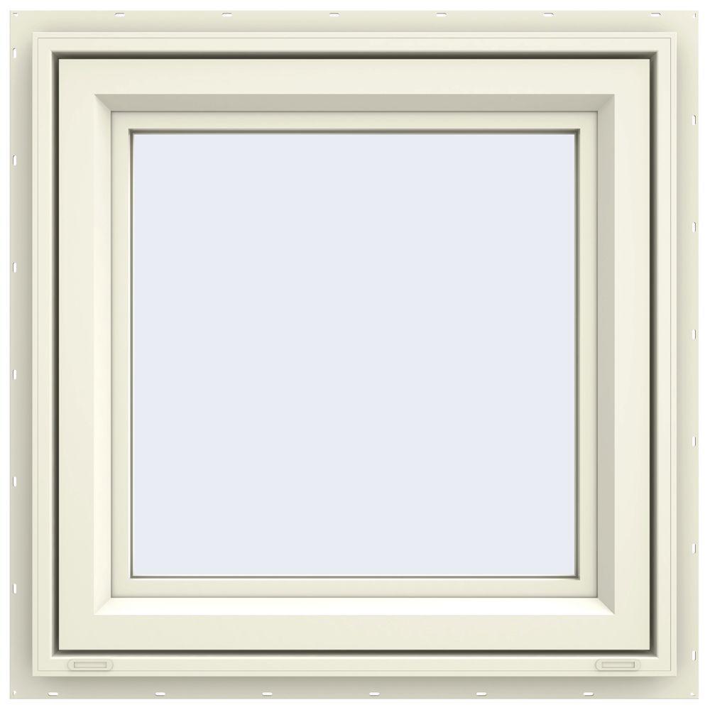 jeld wen 23 5 in x 23 5 in v 4500 series right hand casement vinyl window yellow. Black Bedroom Furniture Sets. Home Design Ideas