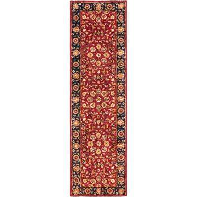Heritage Red/Navy 2 ft. x 18 ft. Runner Rug