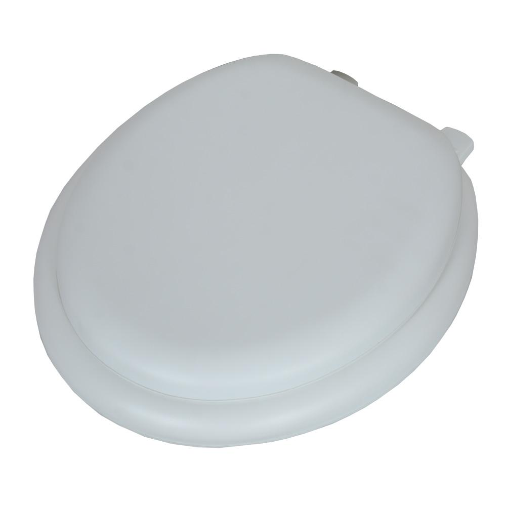Awesome Glacier Bay Soft Round Closed Front Toilet Seat In White Theyellowbook Wood Chair Design Ideas Theyellowbookinfo