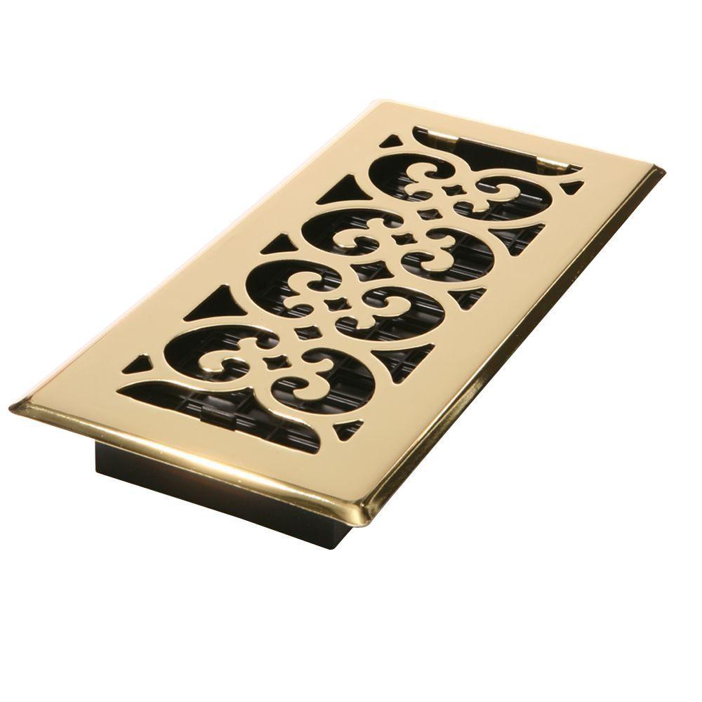 4 In X 12 In Steel Floor Register In Brass Sph412 The