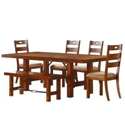 Honea 6-Piece Vintage Oak Dining Set