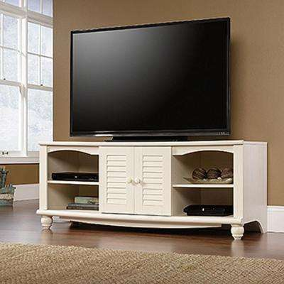 Harbor View Antiqued White Entertainment Center