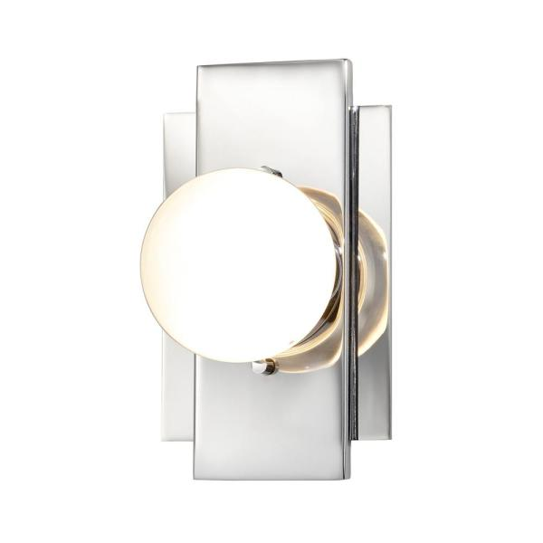 Fusion Luna ADA 3.5 in. Polished Chrome LED Wall Sconce with Clear Glass Shade
