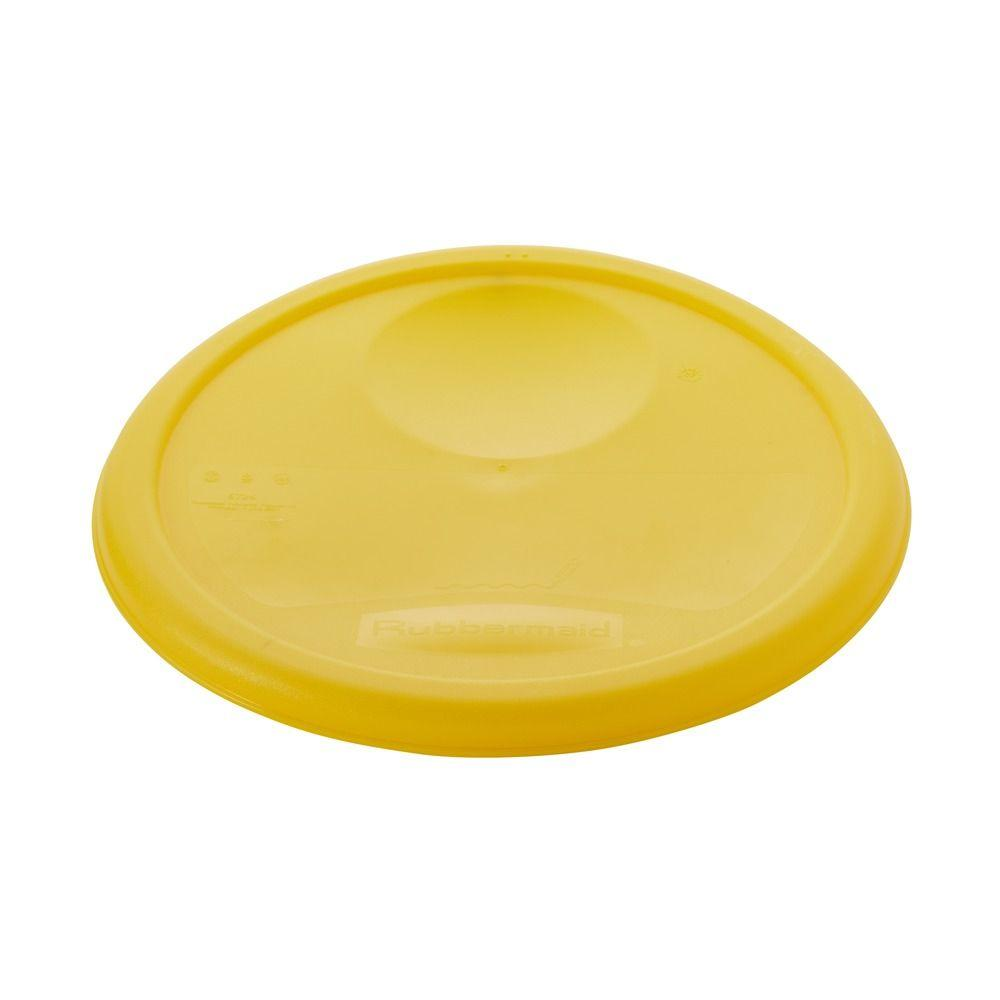 Rubbermaid Commercial Products Yellow Lid-RCP5725YEL - The Home Depot