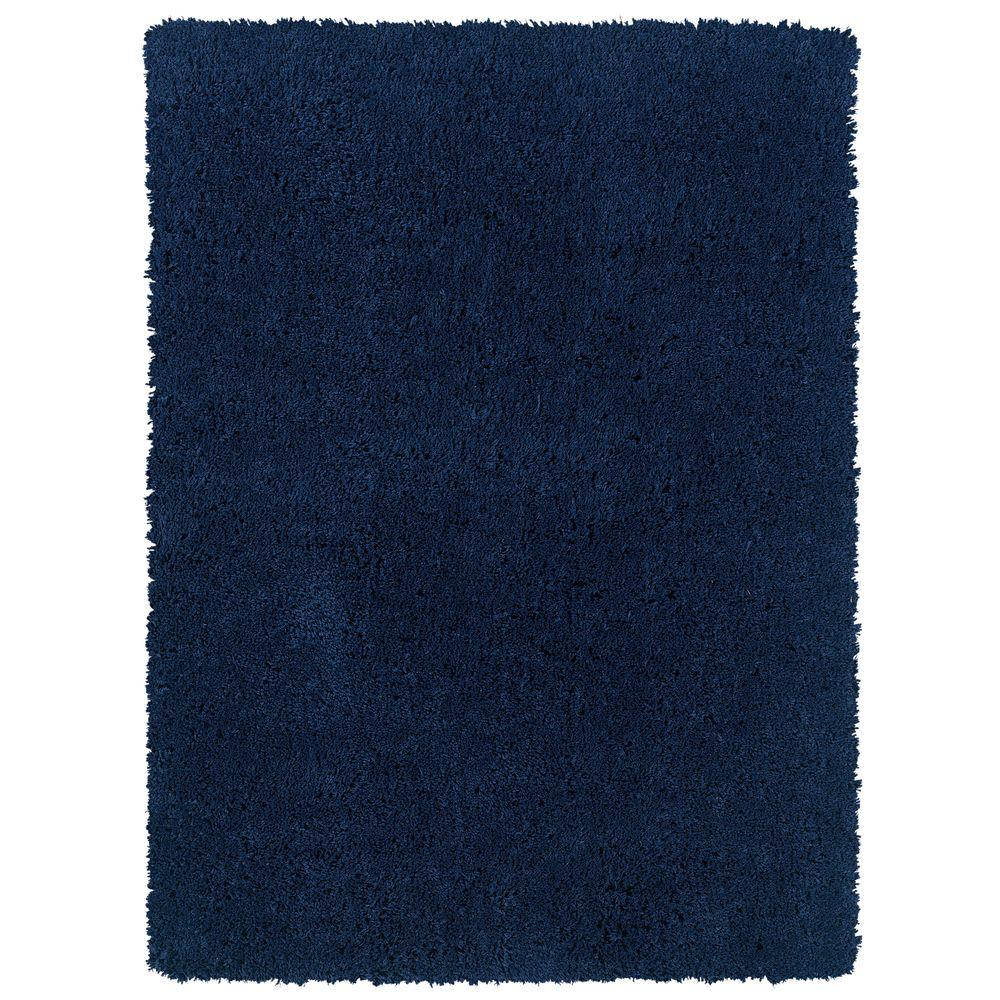 Linon Home Decor Copenhagen Collection Navy 1 ft. 10 in. x 2 ft. 10 in. Area Rug