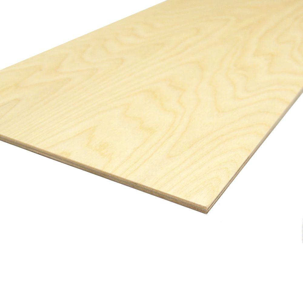 Builder's Choice 1/4 in. x 12 in. x 2 ft. Birch Plywood Project Panel (Actual: 0.236 in. x 11.875 in. x 23.875 in.)