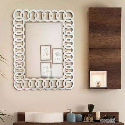 35.5 in. x 27.5 in. The Union Decorative Rectangle Wall Mirror
