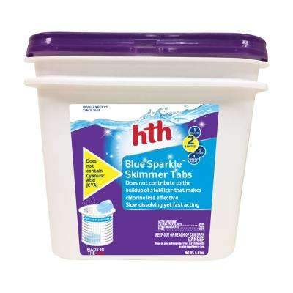5.5 lbs. Pool Chlorinating Sanitizer Blue Sparkle Skimmer Tabs