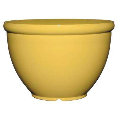 Bellina 8 in. Round Buttercup Resin Planter