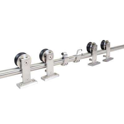 13 ft. Stainless Steel Style Sliding Barn Door Hardware Track (2-Set)