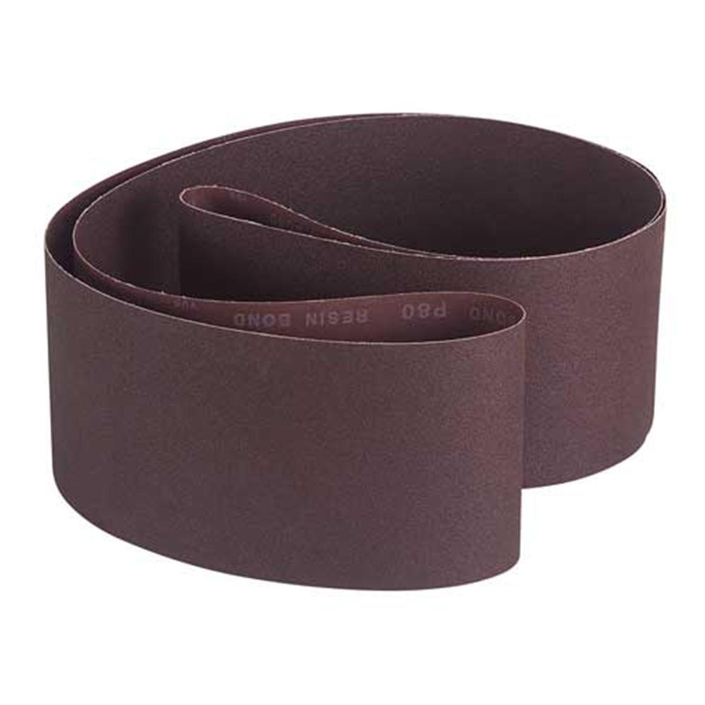 6 in. x 108 in. 80-Grit Aluminum Oxide Sanding Belt