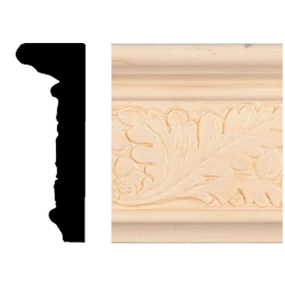 House Of Fara 7/8 In. X 2-1/2 In. X 8 Ft. Hardwood Emboss