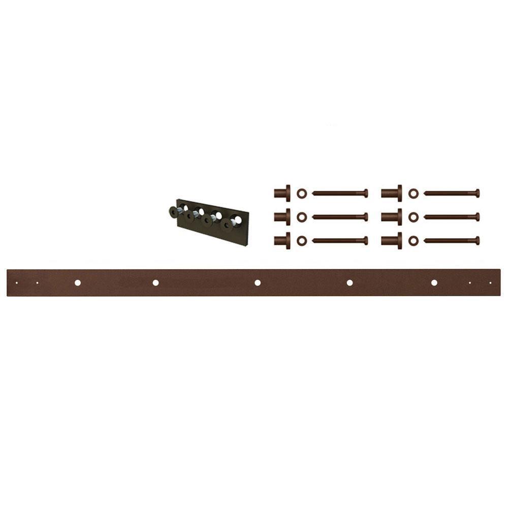 4 ft. Oil Rubbed Bronze Extension Rail Kit for Mini Sliding Furniture Barn Doors