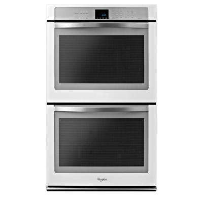 Gold 30 in. Double Electric Wall Oven Self-Cleaning with Convection in White Ice
