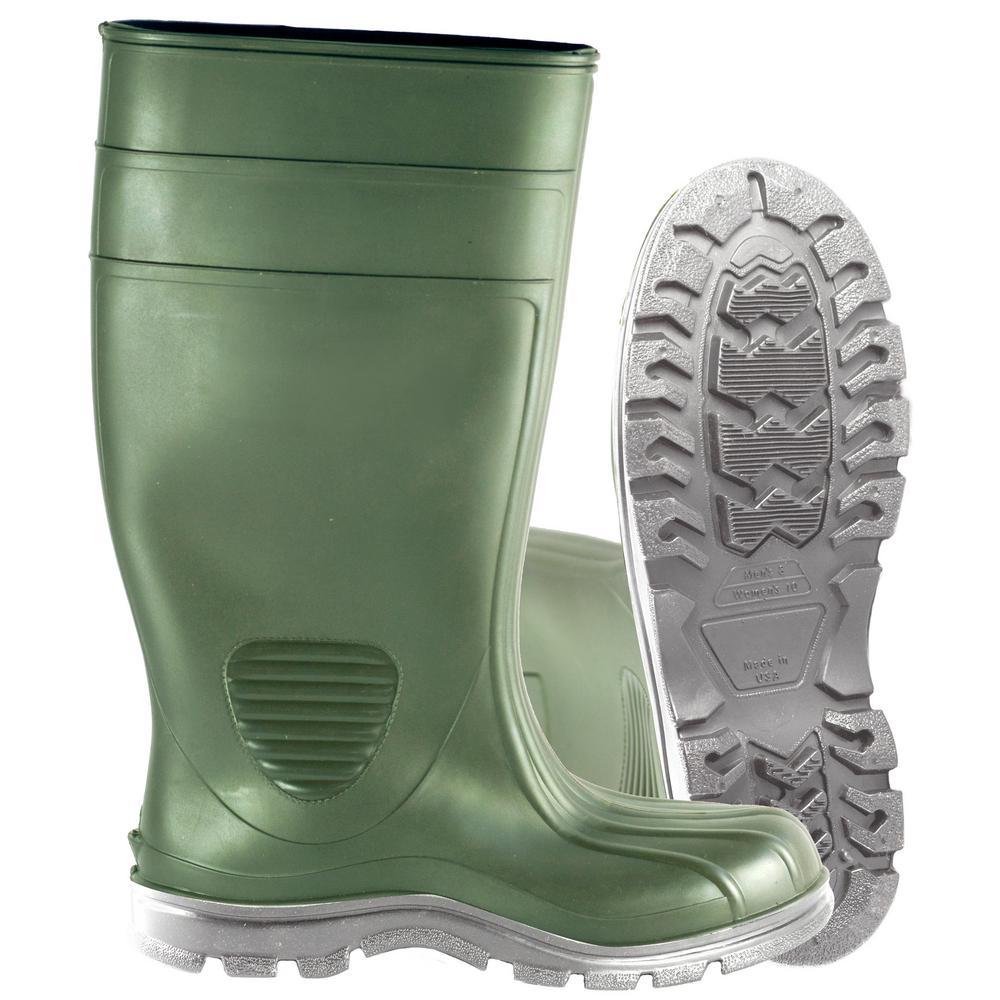 b5177e86ad5 Heartland Men's Size 13 Green Comfort Tuff Industrial Steel Toe PVC Boot