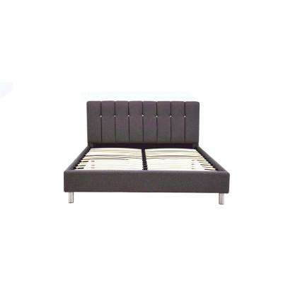Mert Gray Linen Queen Bed