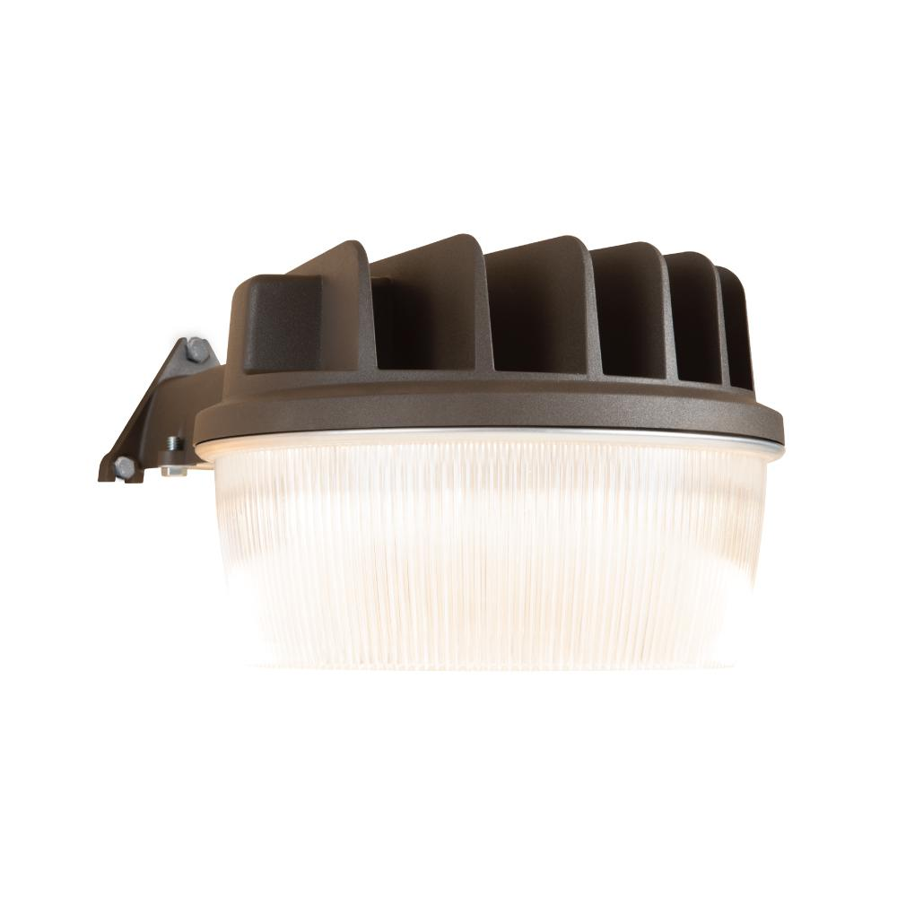 30-Watt Bronze Outdoor Integrated LED Dusk to Dawn Security Area Light