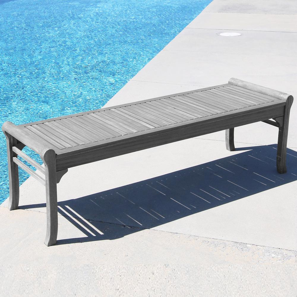 Vifah Renaissance 5 Ft Backless Patio Bench V1607 The Home Depot