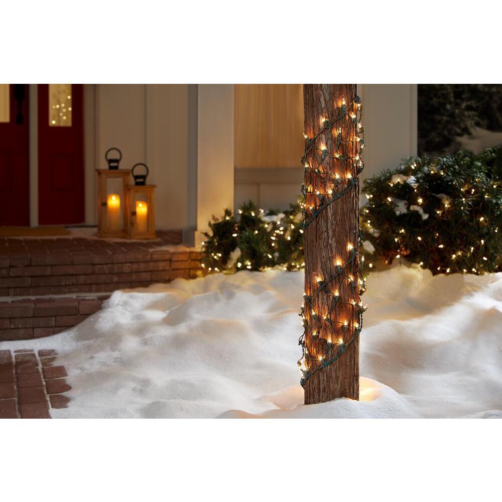 8 in. W x 7.5 ft. L 150-Light Clear Ribbon Net Lights