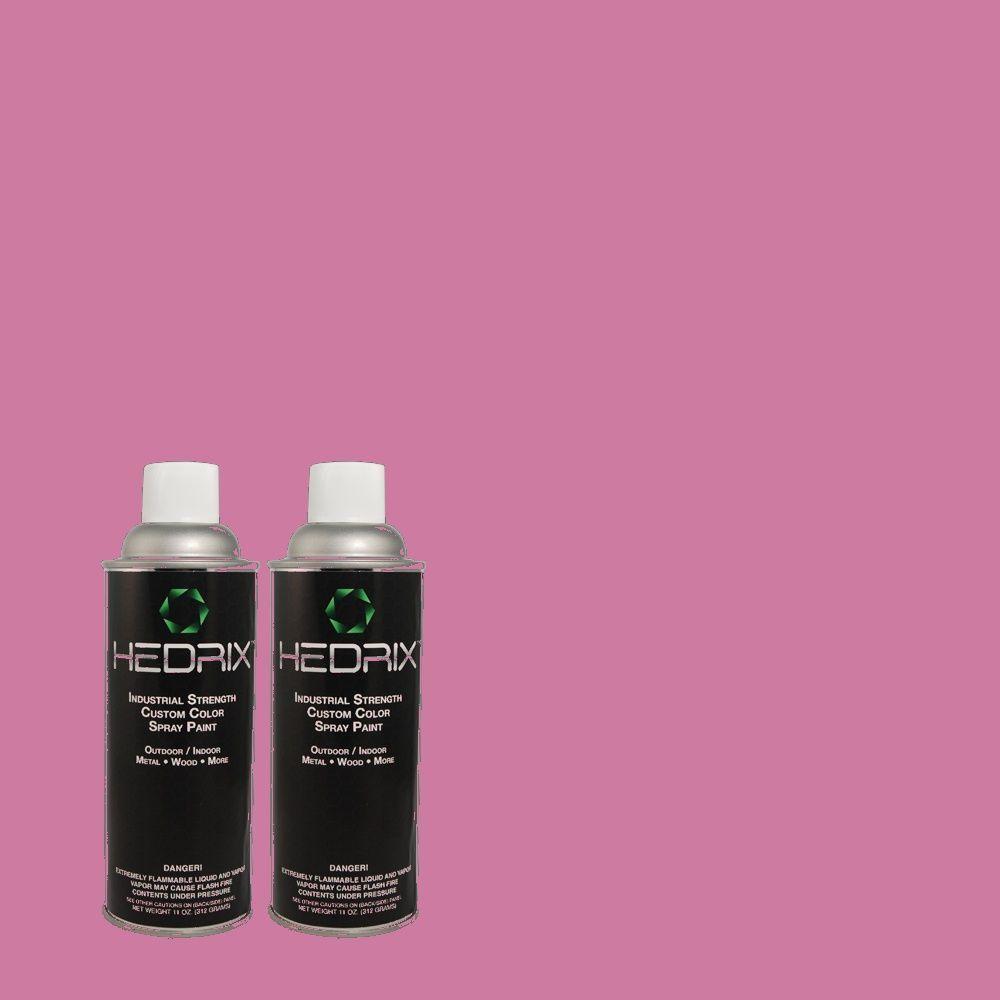 Hedrix 11 oz. Match of 680B-5 Strawberry Freeze Semi-Gloss Custom Spray Paint (2-Pack)