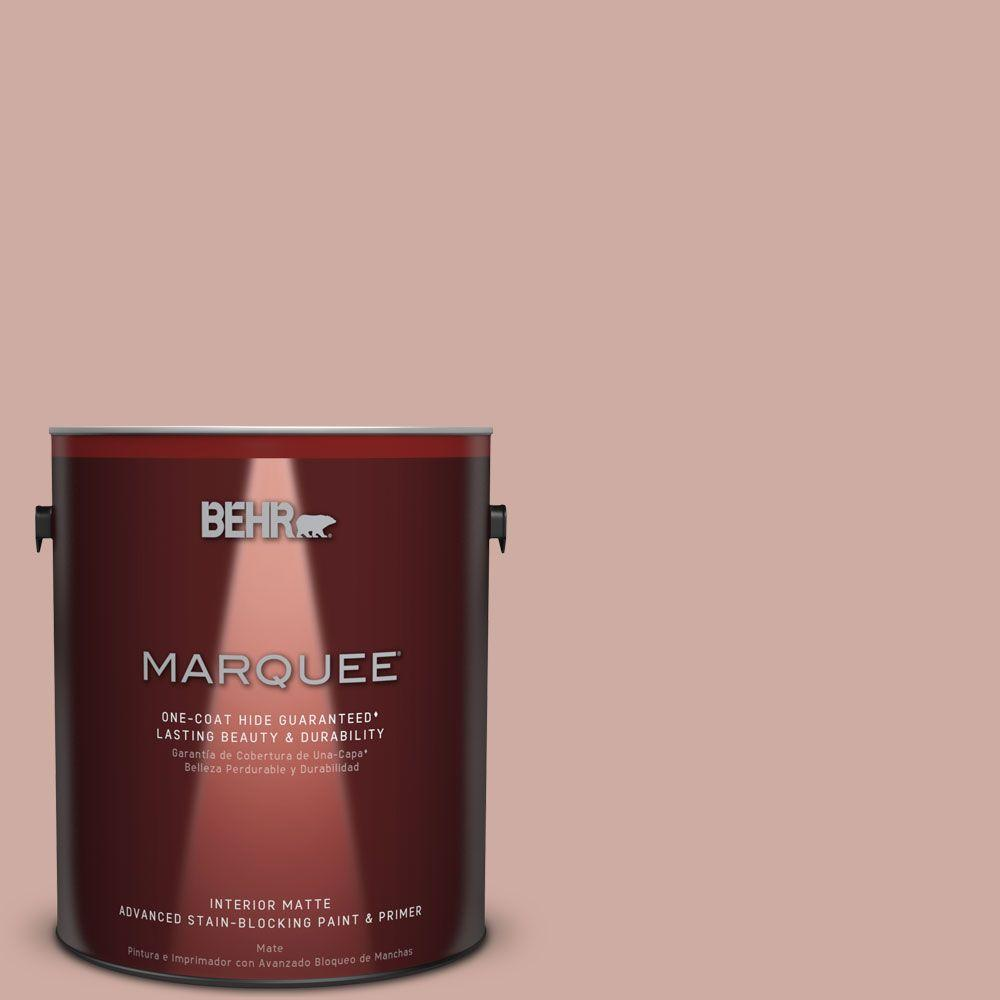 BEHR MARQUEE 1 gal. #MQ1-50 Art Deco Pink Matte Interior Paint and ...