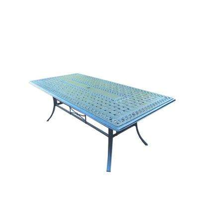 Hampton Rectangular Aluminum Patio Dining Table