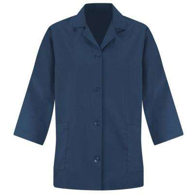 Women's Size L Navy Smock Sleeve